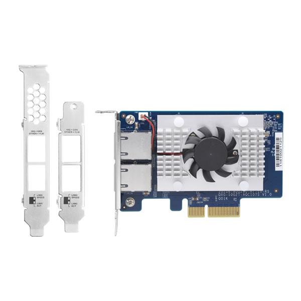 QNAP QXG-10G2T-107 10GbE RJ-45 2ポート マルチギガ拡張カード