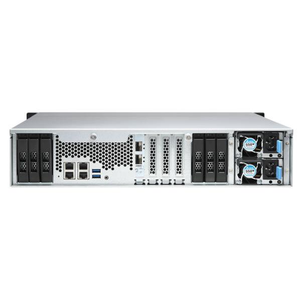 QNAP TS-h1886XU-RP-D1622-32G 12ベイ ラックマウントNASキット