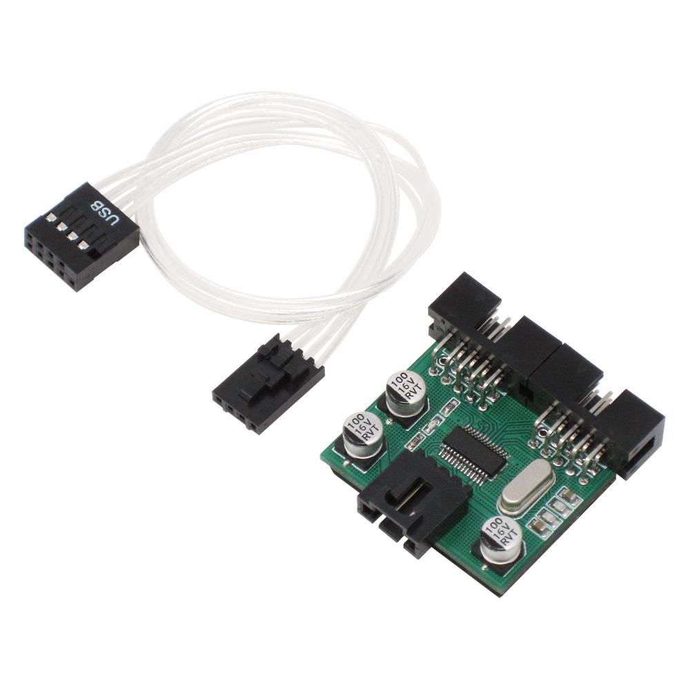 AINEX HUB-06 USB2.0ヘッダー 2分配ハブ