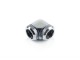 Bitspower Silver Shining Enhance 90-Degree Dual Multi-Link Adapter For OD 14MM