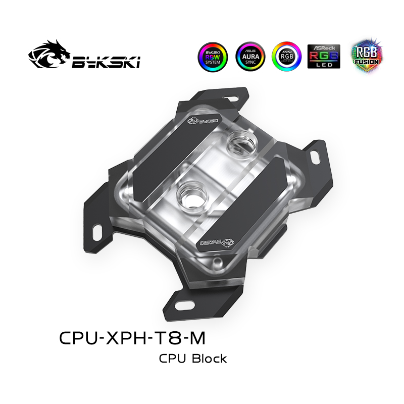 Bykski CPU-XPH-T8-M acrylic Mechanical butterfly CPU BLOCKS AMD Ryzen platform Black