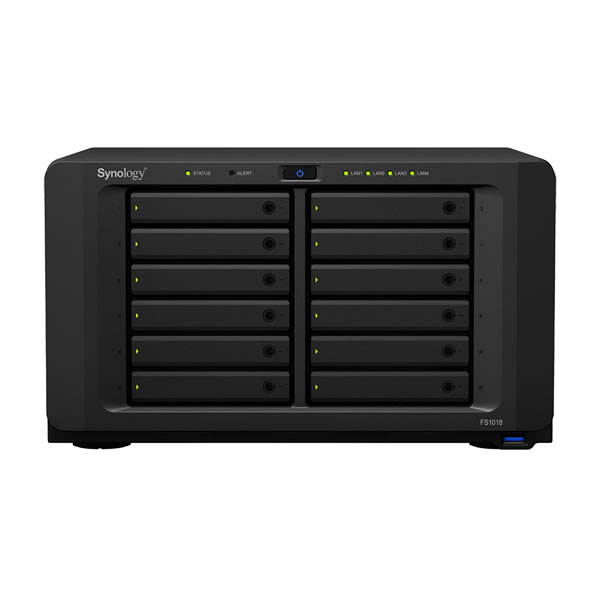 Synology FlashStation FS1018 2.5インチSSD 12台搭載可能