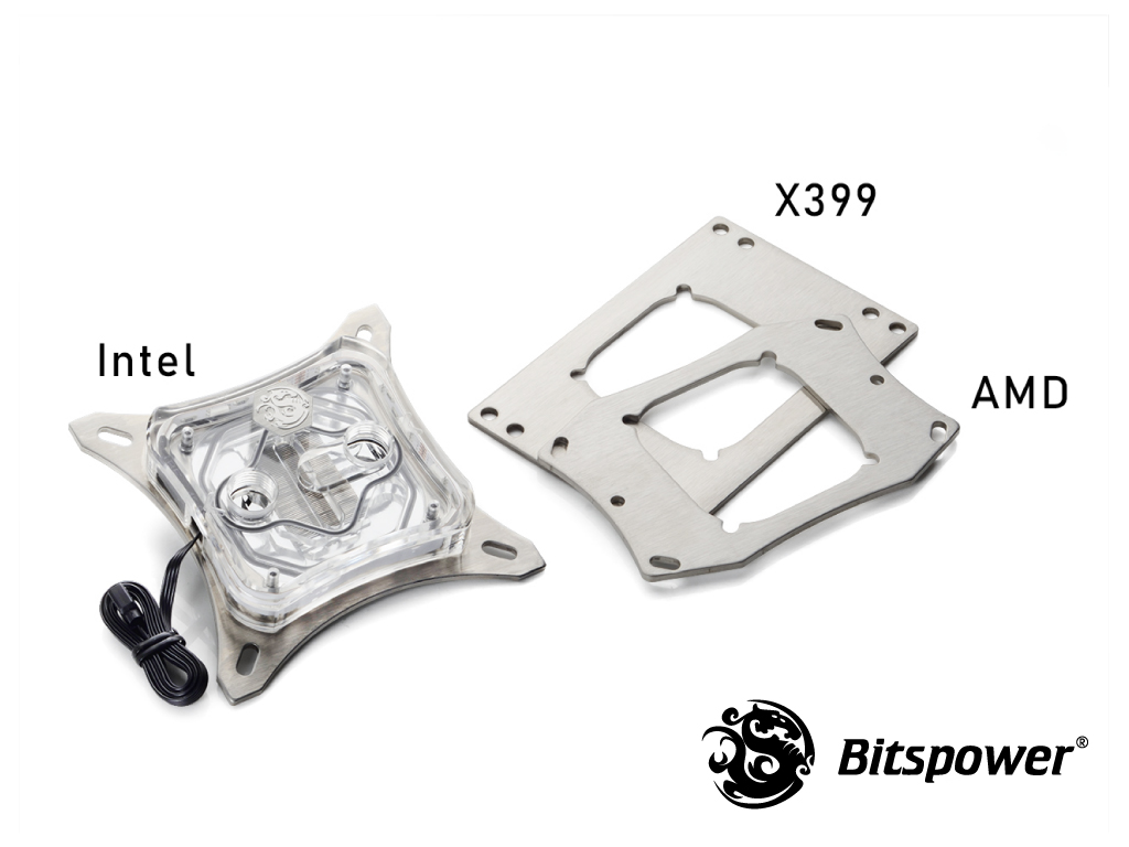 Bitspower CPU Block Summit M Acrylic - Digital RGB