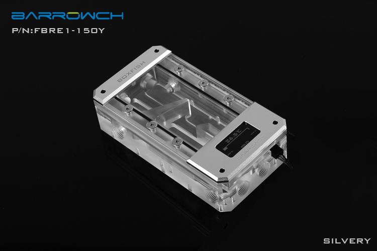 Barrowch boxfish series acrylic square wisdom digital reservoir Matt Silver L150