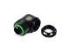 """Bitspower Matt Black Enhance Rotary G1/4"""" 90-Degree Multi-Link Adapter For OD 14MM"""