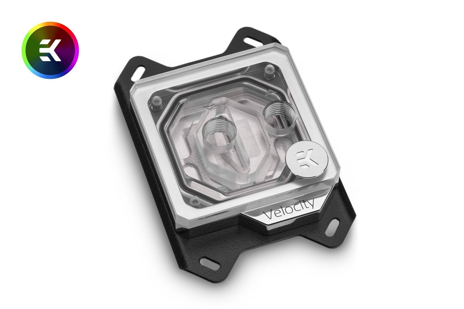 EK WaterBlocks EK-Quantum Velocity D-RGB - AMD Nickel + Plexi