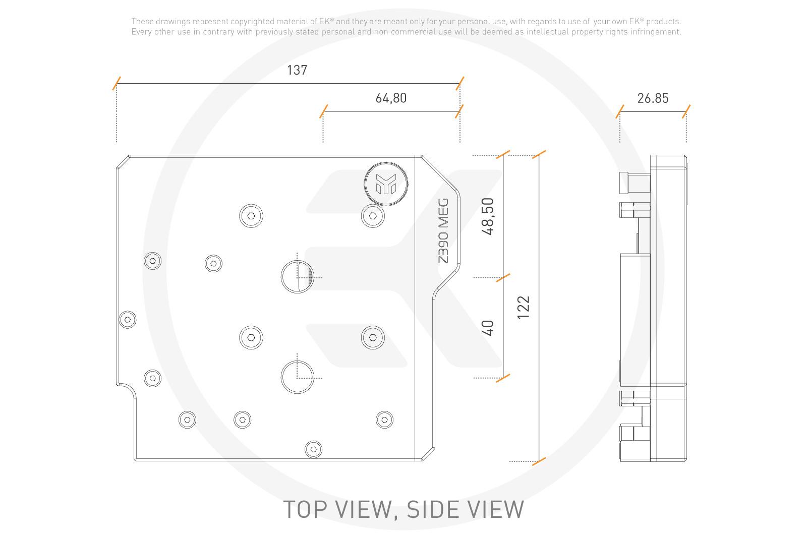 EK WaterBlocks EK-Momentum MSI Z390 MEG Ace D-RGB - Plexi