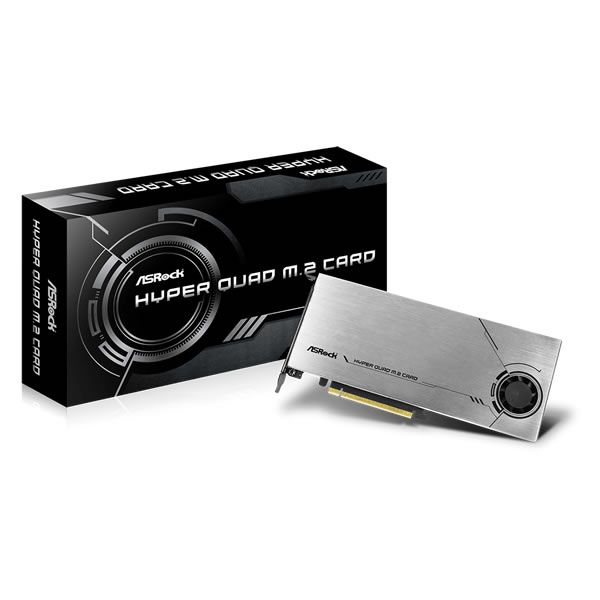 ASRock HYPER Quad M.2 Card Gen4 M.2 SSD 増設ボード