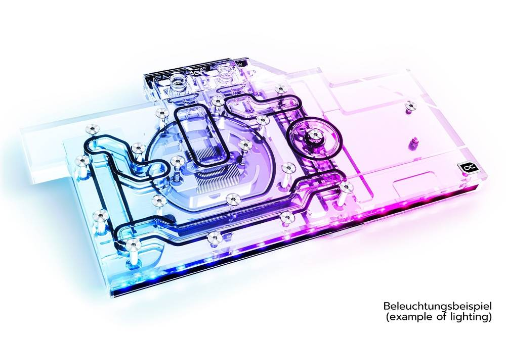 Alphacool Eisblock Aurora Acryl GPX-N RTX 3080/3090 Aorus Master/Xtreme with Backplate
