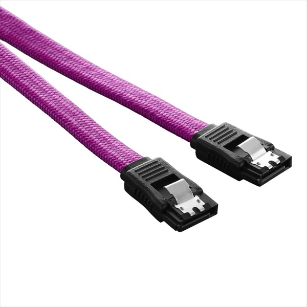 CableMod ModFlex SATA 3 Cable 30cm - PINK (CM-CAB-SATA-30KI-R)