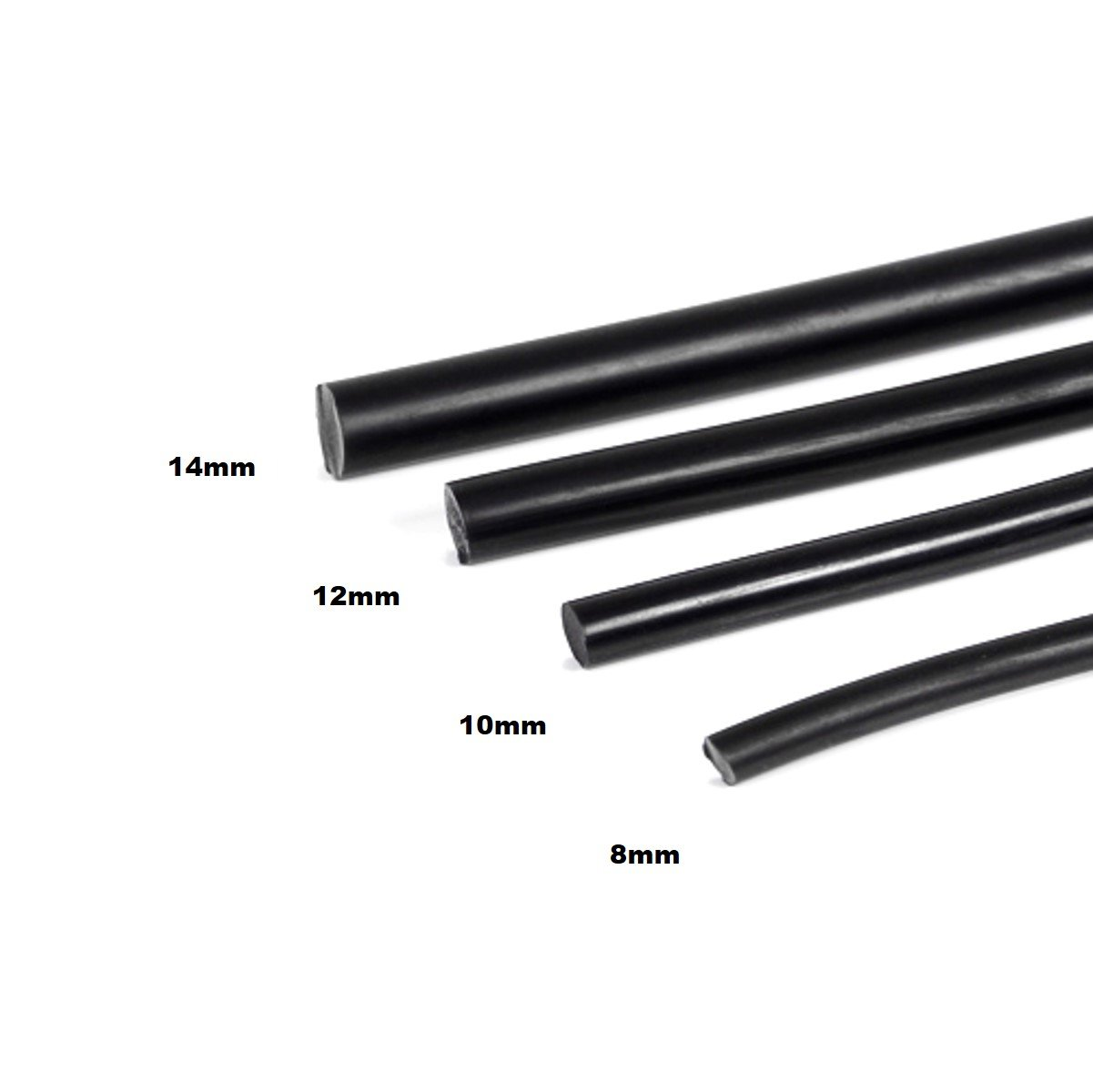 BARROW Silicone Cord For Bending Acrylic Tube (10MM, black)