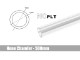 Bitspower None Chamfer PETG Link Tube OD14MM-Length 500MM