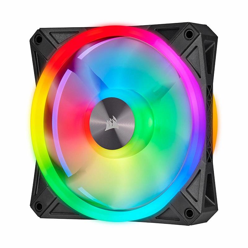 CORSAIR QL120 RGB 120mm PWM トリプルファンキット