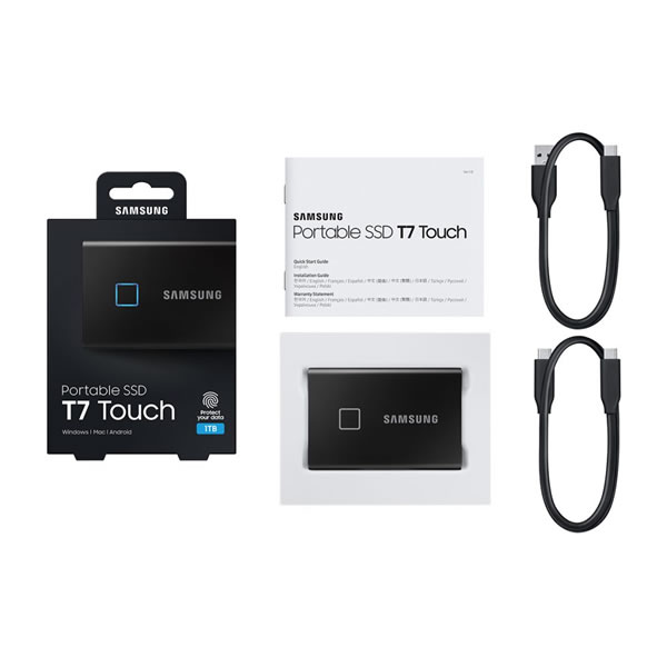 SAMSUNG MU-PC500K/IT 500GB ブラック Portable SSD T7 Touch シリーズ