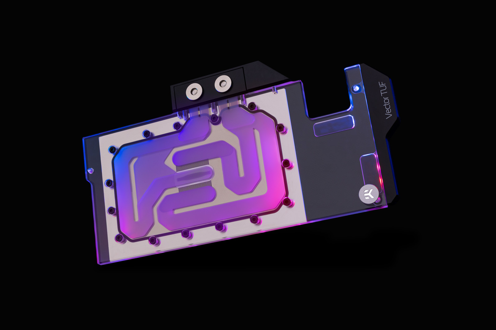 【取寄せ商品:要納期確認】 EK WaterBlocks EK-Quantum Vector TUF RX 6800/6900 D-RGB - Nickel + Plexi