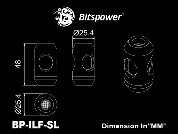 Bitspower Silver Shining In-Line Filter