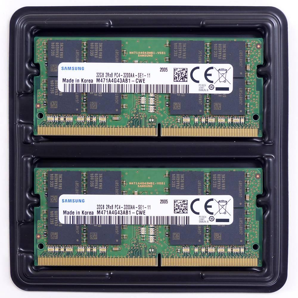 aiutoセレクトメモリー SAMSUNG純正 DDR4-3200 SO-DIMM 32GBx2枚組 64GB KIT