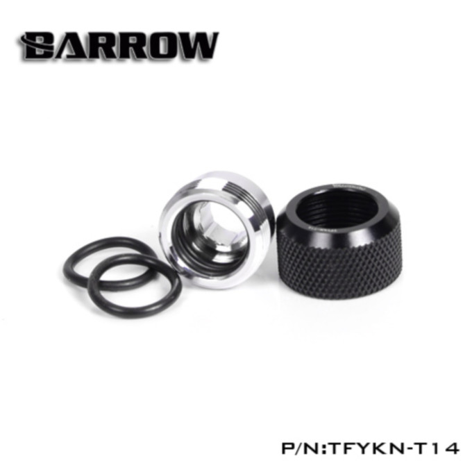 BARROW Choice Multicolor Compression Fitting - OD: 14mm  Rigid Tubing Classic Black