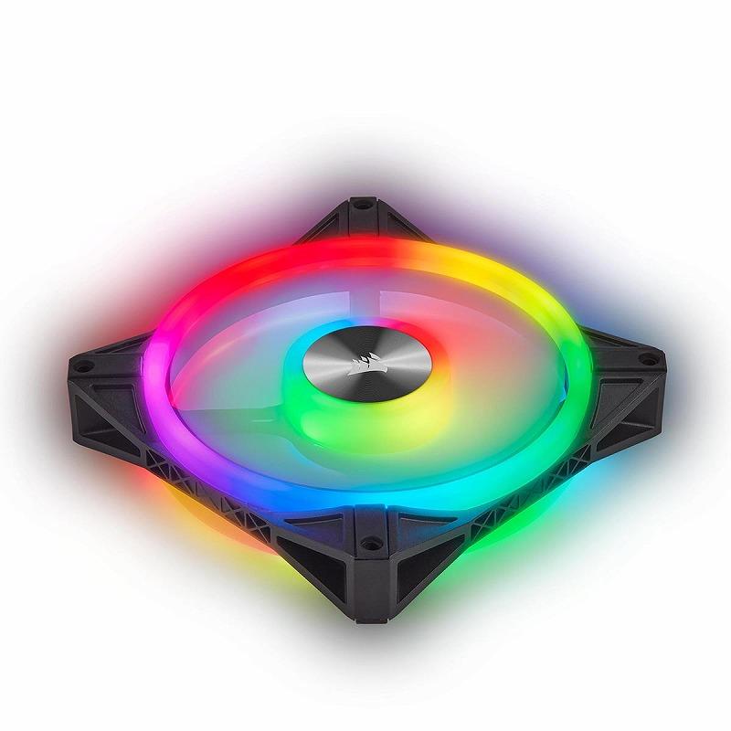 CORSAIR QL140 RGB 140mm PWM デュアルファンキット