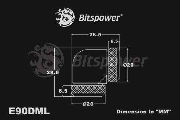 Bitspower Matt Black Enhance 90-Degree Dual Multi-Link Adapter
