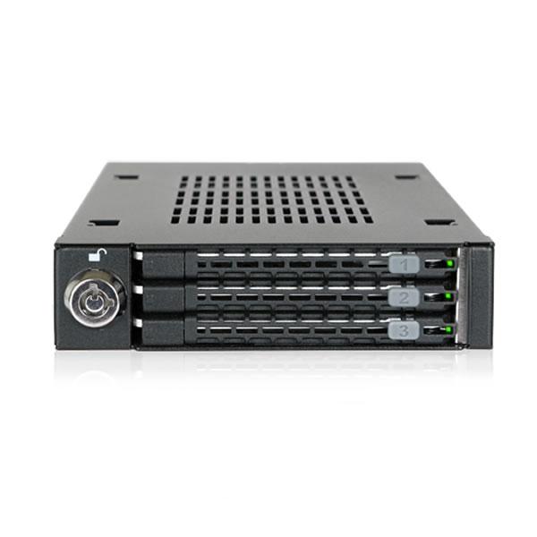 ICYDOCK MB993SK-B 3.5インチベイ用 2.5インチ 3台搭載可能
