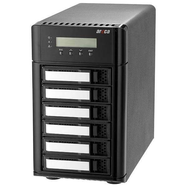 areca ARC-8050T3U-6 Thunderbolt3/USB3.2 Gen2(10Gbps) HDD6台搭載可能