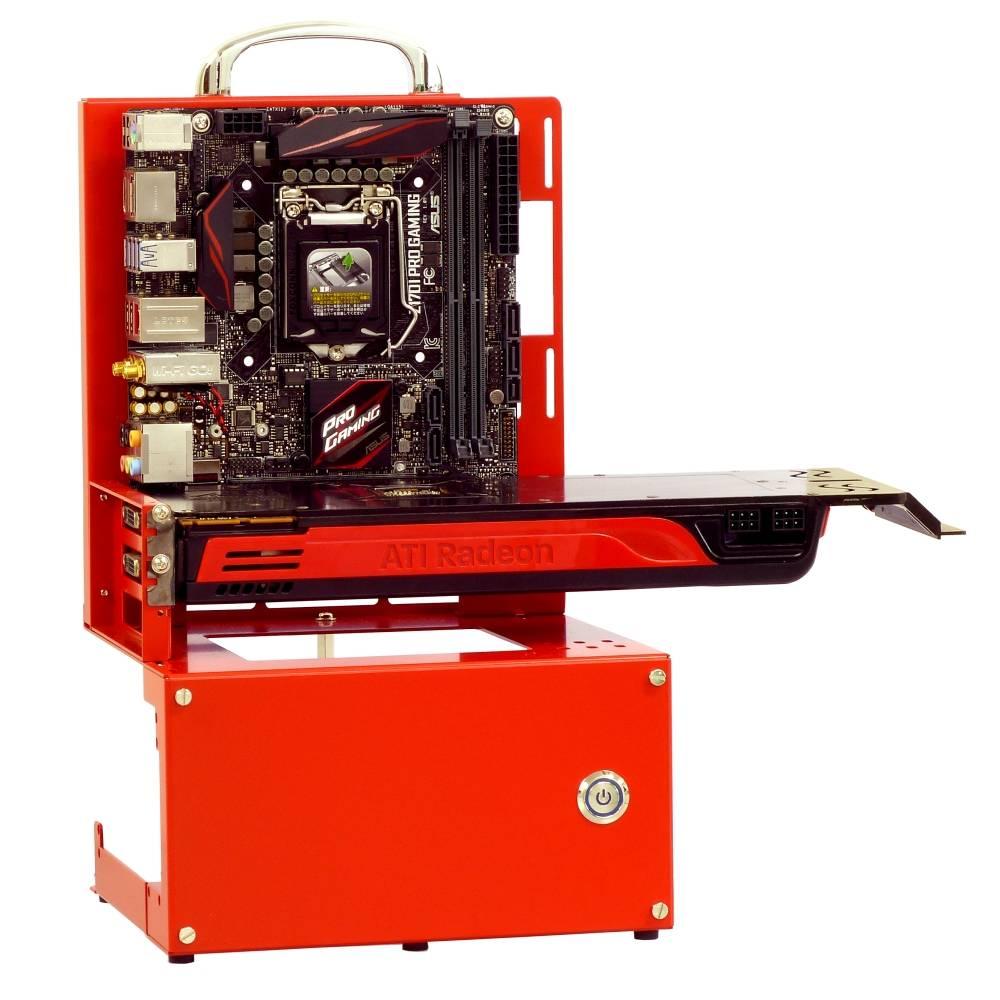 長尾製作所 オープンフレーム ver.mini-ITX レッド ATX電源対応モデル