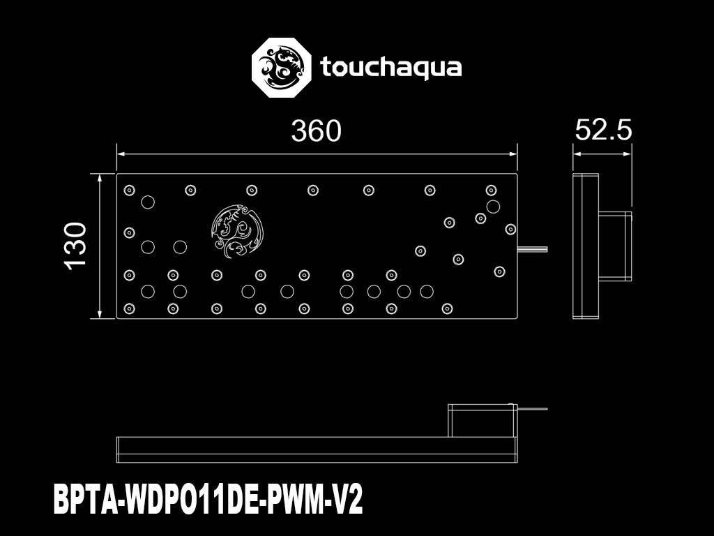 Bitspower Touchaqua Sedna O11D for LIAN LI O11 DYNAMIC Series