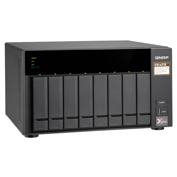 QNAP TS-873-4G 2.5/3.5インチ 8台搭載可能