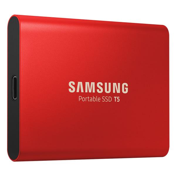 SAMSUNG MU-PA500R/IT 500GB Portable SSD T5 赤 シリーズ