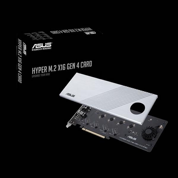 ASUS HYPER M.2 X16 GEN 4 CARD NVMe M.2 SSD 搭載可能 PCIe x16 カード (VROC対応可)