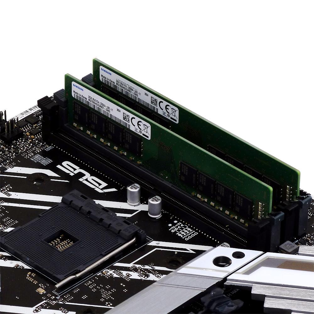 【取寄せ商品:要納期確認】 aiutoセレクトメモリー SAMSUNG純正 DDR4-3200 16GBx2枚組 32GB KIT