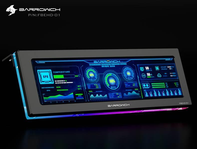 Barrowch external expansion display screen FBEHD-01 Black