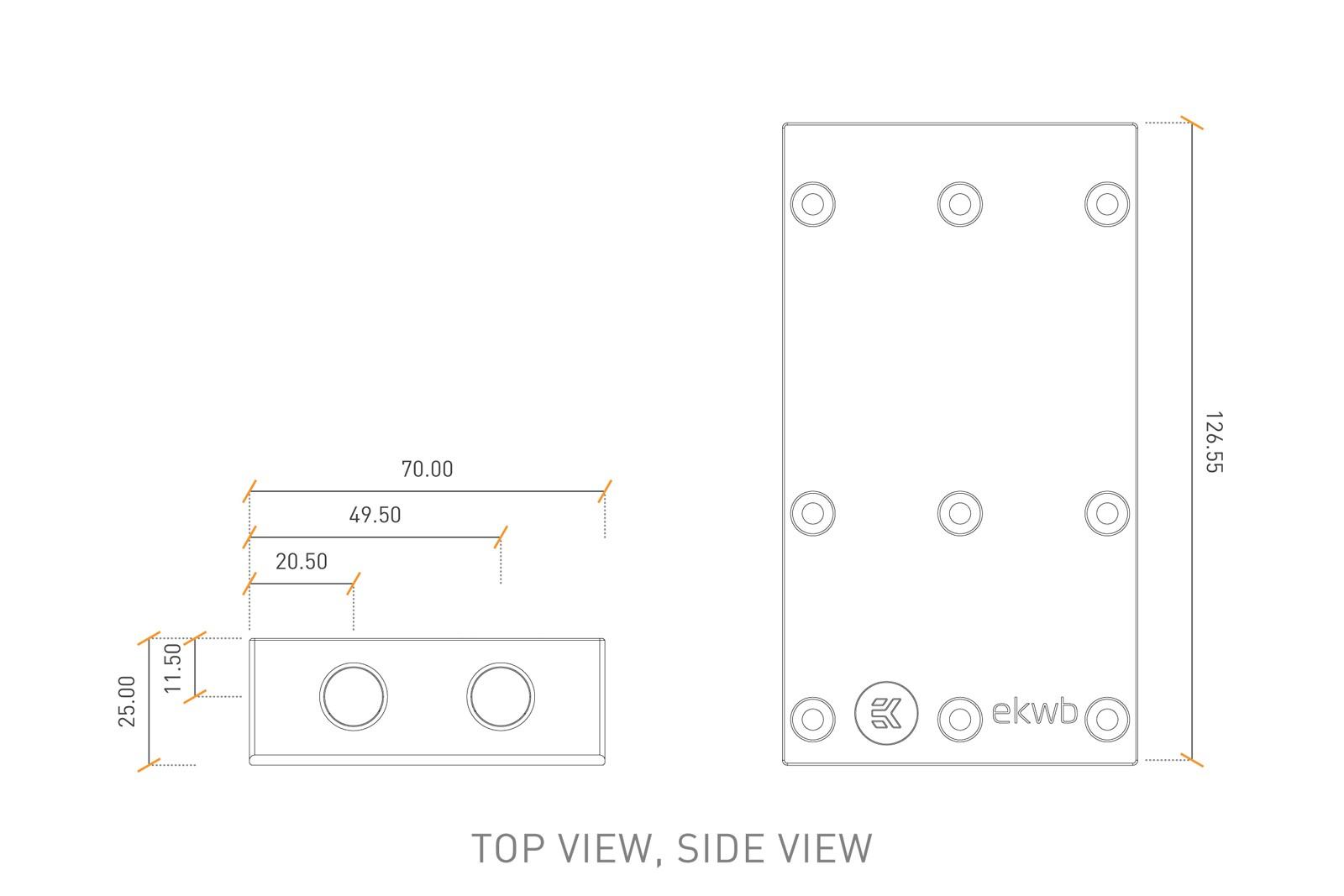 EK Water Blocks EK-FC Terminal X3 S (Type II) - Plexi
