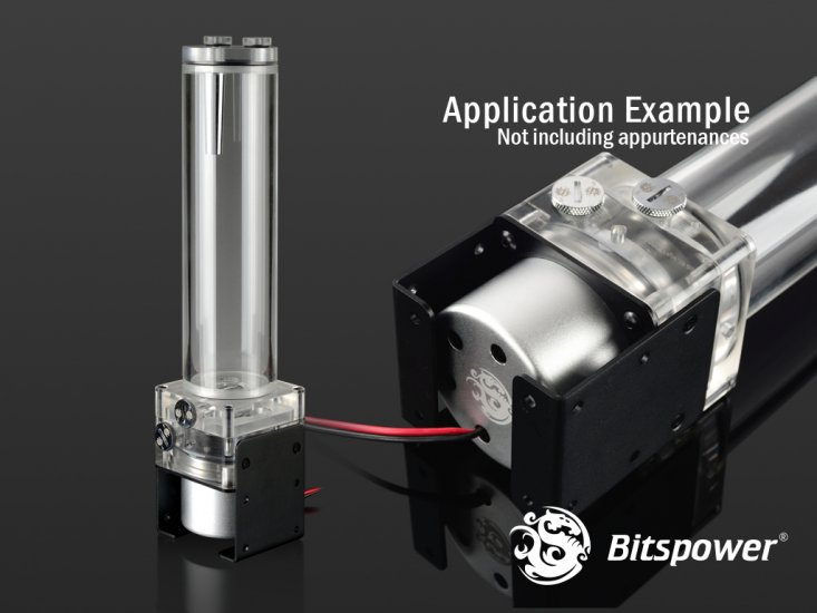 【取寄せ商品:通常納期約1週間】 Bitspower Premium Dual / Single D5 Top Upgrade Kit 150 (Acrylic Version)