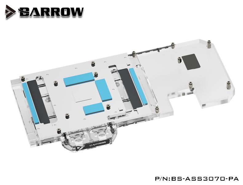 BARROW LRC2.0 full coverage GPU Water Block for ASUS STRIX 3070 Aurora