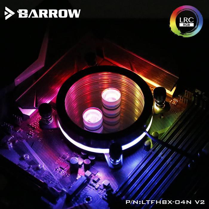 BARROW Jetting type micro waterway CPU block  (Supreme Edition) for X99/X299 platform Black bracket +classic black