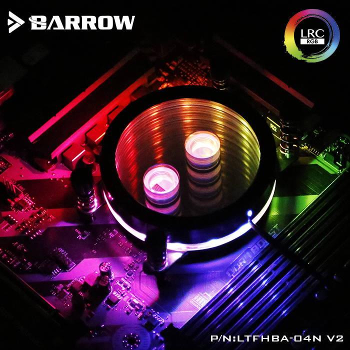 BARROW Jetting type micro waterway CPU block (Supreme Edition) for AMD platform Black bracket +matt silver