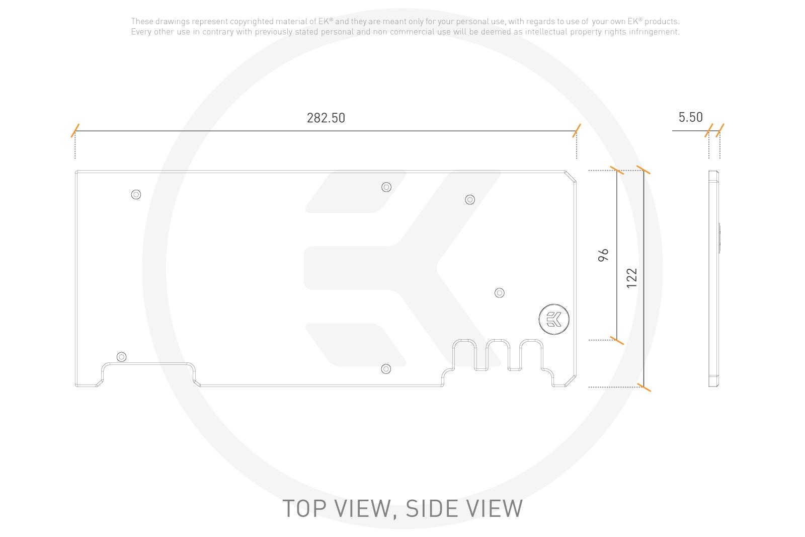 EK WaterBlocks EK-Quantum Vector Xtreme RTX 3080/3090 Backplate - Black