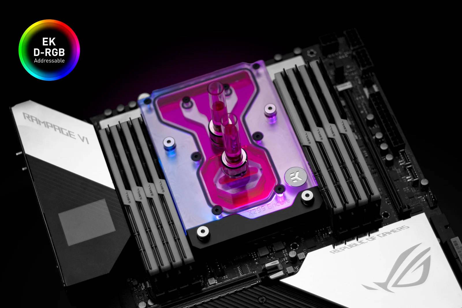 EK WaterBlocks EK-Quantum Momentum ROG Rampage VI Encore D-RGB - Plexi