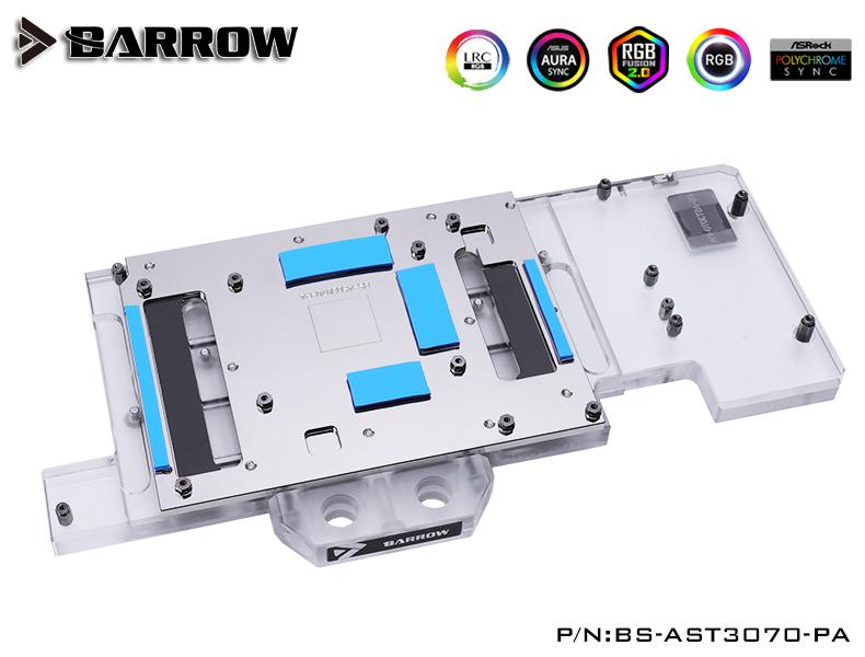 BARROW LRC2.0 full coverage GPU Water Block for ASUS TUF 3070 Aurora
