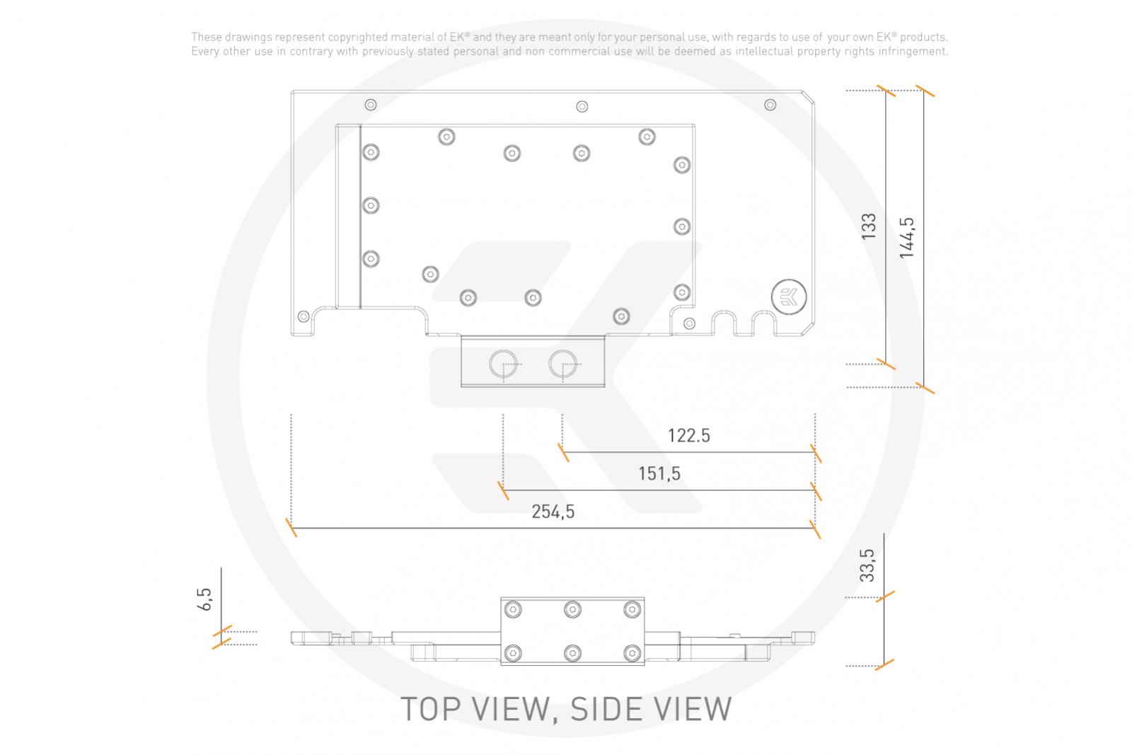 EK WaterBlocks EK-Quantum Vector TUF RTX 3080/3090 Active Backplate D-RGB - Plexi