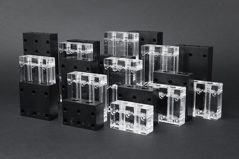 EK Water Blocks EK-FC Terminal X2 3-slot - Plexi