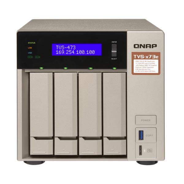 QNAP TVS-473e-8G 2.5/3.5インチ 4台搭載可能