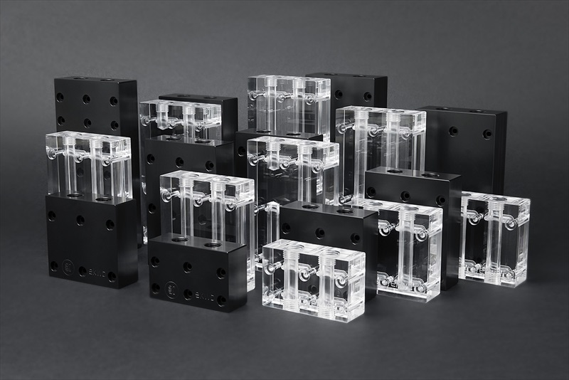 EK Water Blocks EK-FC Terminal X2 S 3-slot - Plexi