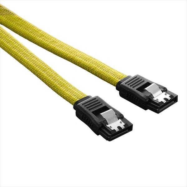 CableMod ModFlex SATA 3 Cable 60cm - YELLOW (CM-CAB-SATA-60KY-R)