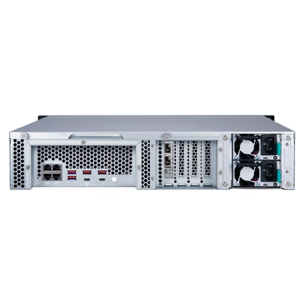 QNAP TS-1283XU-RP-E2124-8G 12ベイ ラックマウントNASキット
