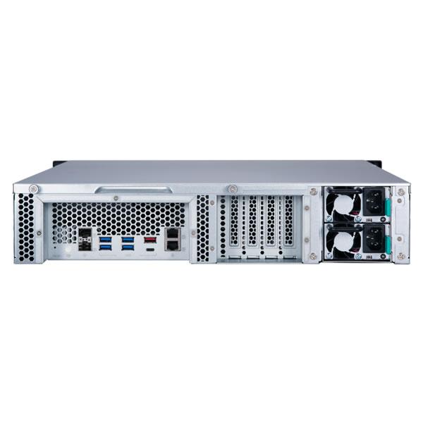 QNAP TS-1277XU-RP-2600-8G 12ベイ ラックマウントNASキット