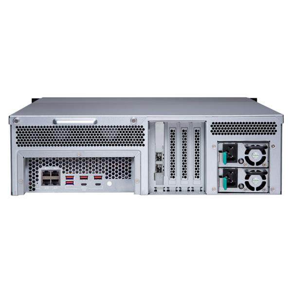 QNAP TS-1683XU-RP-E2124-16G 16ベイ ラックマウントNASキット