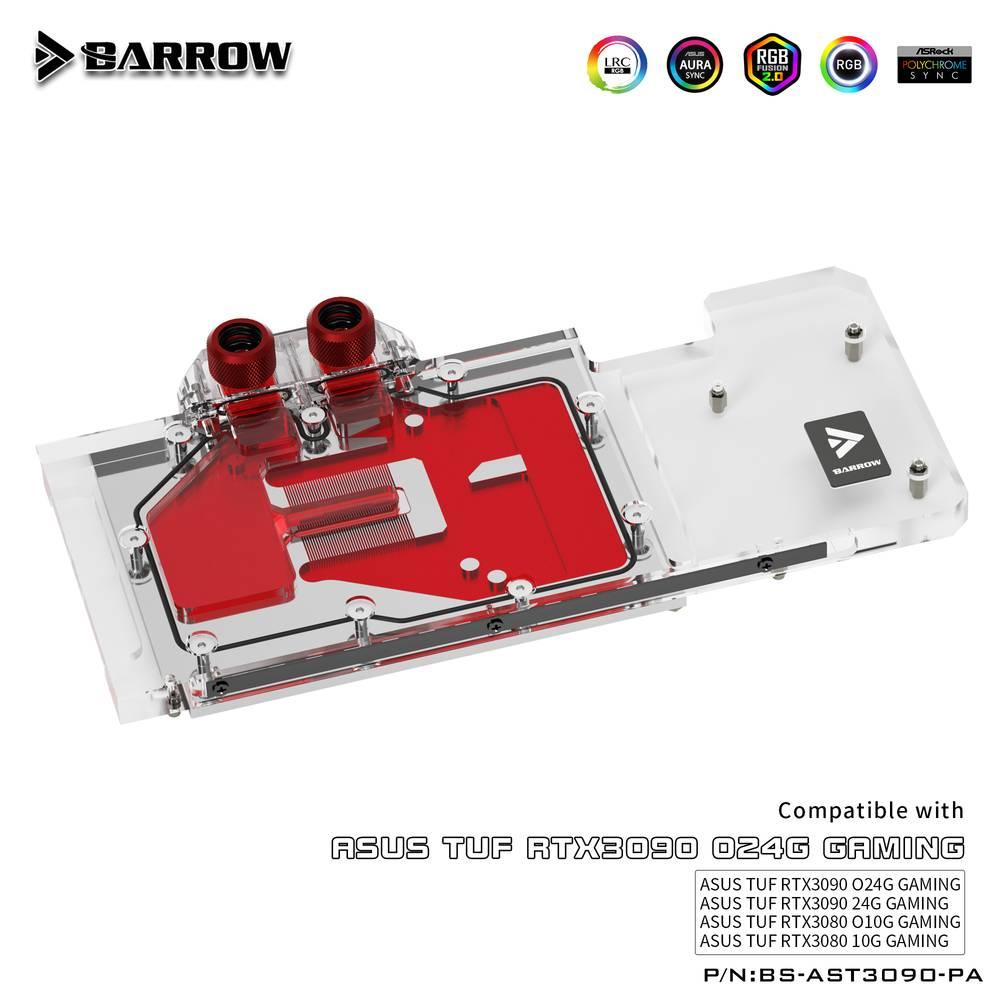 BARROW LRC2.0 full coverage GPU Water Block for ASUS TUF 3090 Aurora